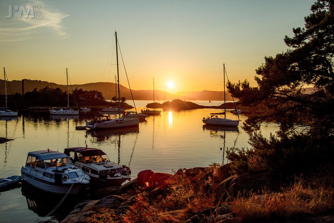 Sunset at Pjolter Bay, Risør