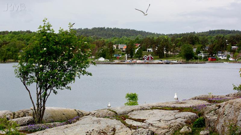 Holtane båthavn sett fra Galten